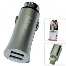 АЗУ Apple 8pin/lightning 2,1A (2 USB выхода, провод разъемный) INKAX CD-31 серебро
