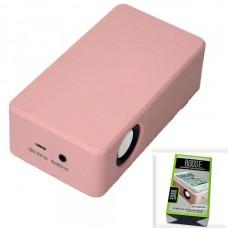 Колонка портативная MagicBoost со звукоснимателем, на батарейках (РОЗОВЫЙ)