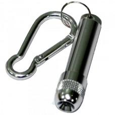 Фонарь-брелок диодный ZY-605 серебро (бат. LR41 4шт. в комплекте)