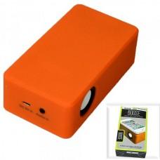 Колонка портативная MagicBoost со звукоснимателем, на батарейках (ОРАНЖЕВЫЙ)