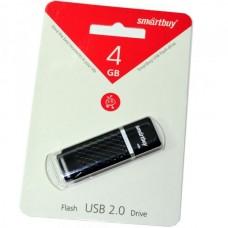 4GB USB 2.0 Flash Drive SmartBuy Quartz черный (SB4GBQZ-K)