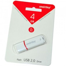 4GB USB 2.0 Flash Drive SmartBuy Crown белый (SB4GBCRW-W)