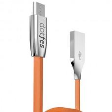 USB Кабель USB-micro USB dotfes A06M оранжевый (1м)