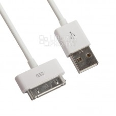 USB Кабель для Apple iPhone/iPad 30 pin (белый)