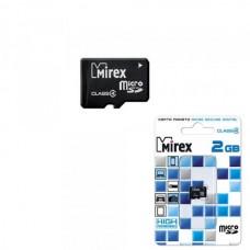 2GB Mirex MicroSD (Transflash) class 4 без адаптера