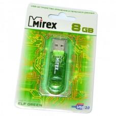 8GB USB 2.0 Flash Drive Mirex ELF зеленый (FMUGRE08)