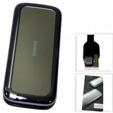 Аккумулятор внешний 10000mA REMAX Mirror RPP-36 (2 USB выхода 2,1A/2,1A) серебро + зеркало