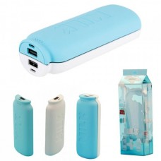 Аккумулятор внешний 10000mA (5500mA+5500mA) REMAX Milk RPP-28 (2 USB выхода 1A/1A) голубой