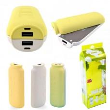 Аккумулятор внешний 10000mA (5500mA+5500mA) REMAX Milk RPP-28 (2 USB выхода 1A/1A) желтый