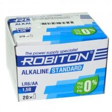 Батарейка алкалиновая Robiton Standard LR6 (коробка/20шт)