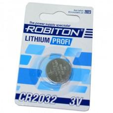 Батарейка алкалиновая Robiton Profi CR2032 (блистер/1шт)