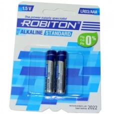 Батарейка алкалиновая Robiton Standard LR03 (блистер/2шт)