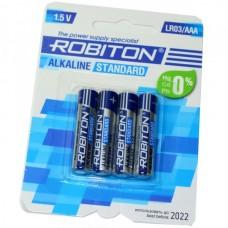 Батарейка алкалиновая Robiton Standard LR03 (блистер/4шт)