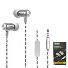 Наушники внутриканальные Yookie YK540 (белый) с микрофоном и кнопкой ответа