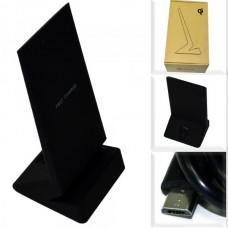 Беспроводная зарядная панель Qi W9 /Fast Charge/ + подставка для телефона черный