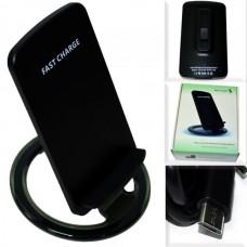 Беспроводная зарядная панель Move Coils /Fast Charge/ + подставка для телефона черный