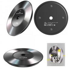 Беспроводная зарядная панель DOTFES K01 /Fast Charge/ черный