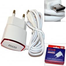 СЗУ (Micro USB) BIOS (быстрый заряд) белый