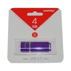 4GB USB 2.0 Flash Drive SmartBuy Quartz фиолетовый (SB4GBQZ-V)