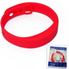 Фитнес браслет W5 красный (шагомер, часы, градусник, напоминания)