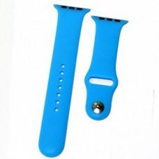 Ремешок Apple Watch (42 мм) силикон голубой