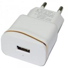 СЗУ-USB 1 выход max 1,0А /real 1,0A/ AQN-728 белая с золотой полосой