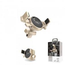 Автодержатель для телефона Baseus SUSD-0V на дефлектор (на шарнире,зажим) золото