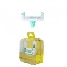 Автодержатель для телефона REMAX RM-C17 на дефлектор (зажим) бело-голубой