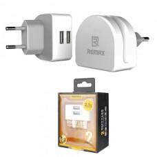 СЗУ-USB 2 выхода max 2,1А REMAX RMT7188 белая