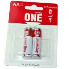 Батарейка алкалиновая SmartBuy One LR6 (блистер/2шт)