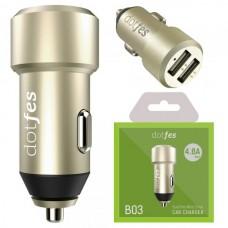 АЗУ-USB 2 выхода max 4,8A dotfes B03 золото