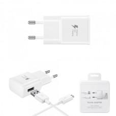 СЗУ (Micro USB) 2A Fast Charge (провод разъемный) белый Samsung Original Factory