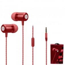 Наушники внутриканальные Yookie Y611 (красный) с микрофоном и кнопкой ответа