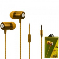 Наушники внутриканальные Yookie Y611 (желтый) с микрофоном и кнопкой ответа