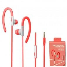 Наушники внутриканальные Yookie YK220 (розовый) с микрофоном и кнопкой ответа