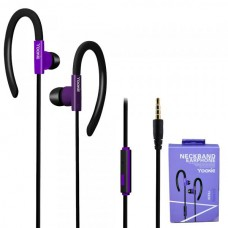 Наушники внутриканальные Yookie YK220 (черный/фиолетовый) с микрофоном и кнопкой ответа