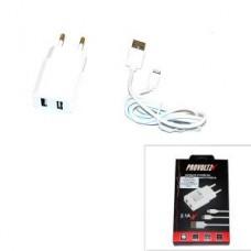 СЗУ iPhone 5/5S/5C/6/6Plus 2,1A (провод разъемный) PROVOLTZ белый