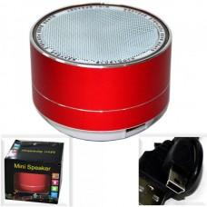 Колонка портативная A10 (BLUETOOTH, Micro SD, ПОДСВЕТКА) красная