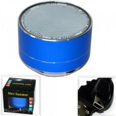 Колонка портативная A10 (BLUETOOTH, Micro SD, ПОДСВЕТКА) синяя