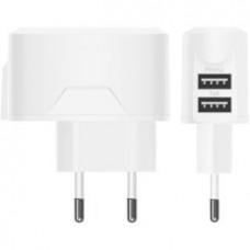 СЗУ 2 USB выхода 2А (белый) форма Samsung